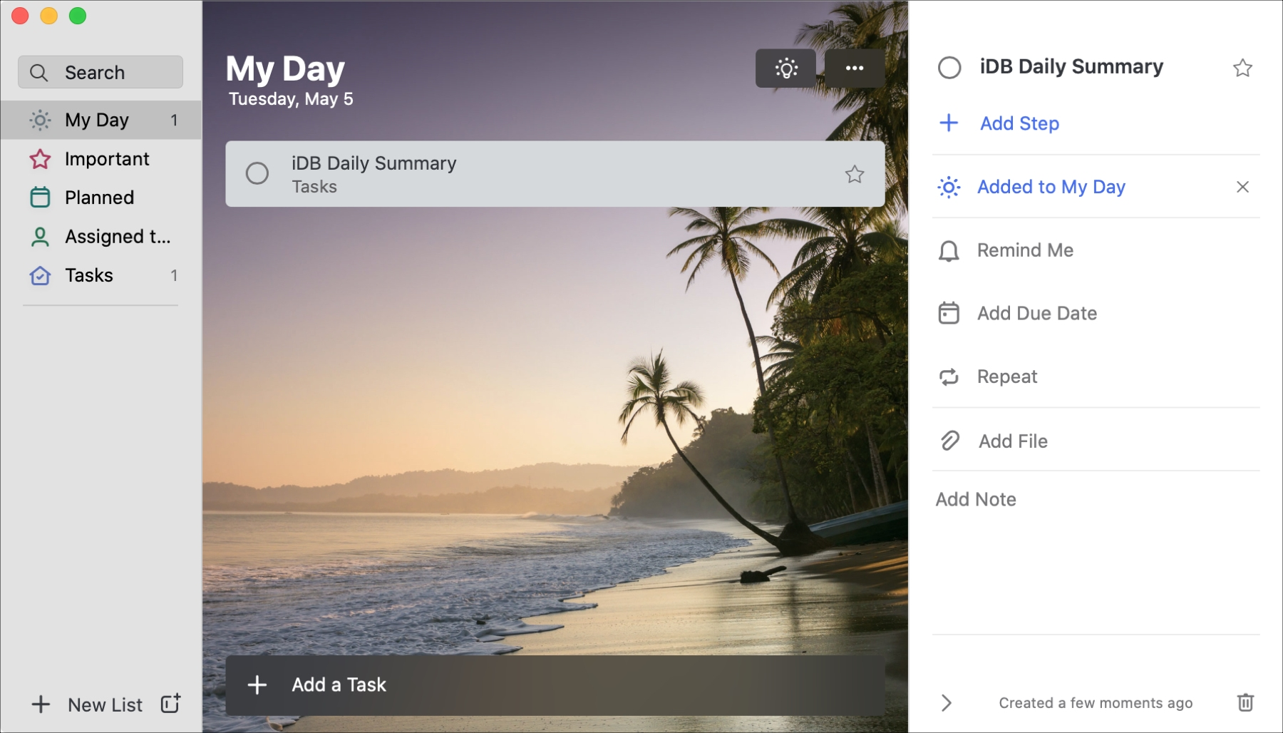 Microsoft To Do My Day on Mac