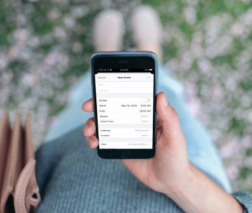 New Event Calendar App on iPhone
