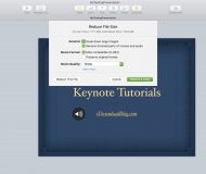 Reduce File Size Settings Keynote Mac