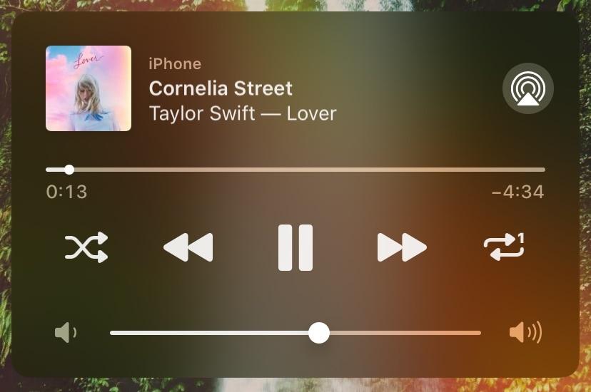 Phát lại thêm các nút lặp lại và trộn vào tiện ích đang phát của iOS 1