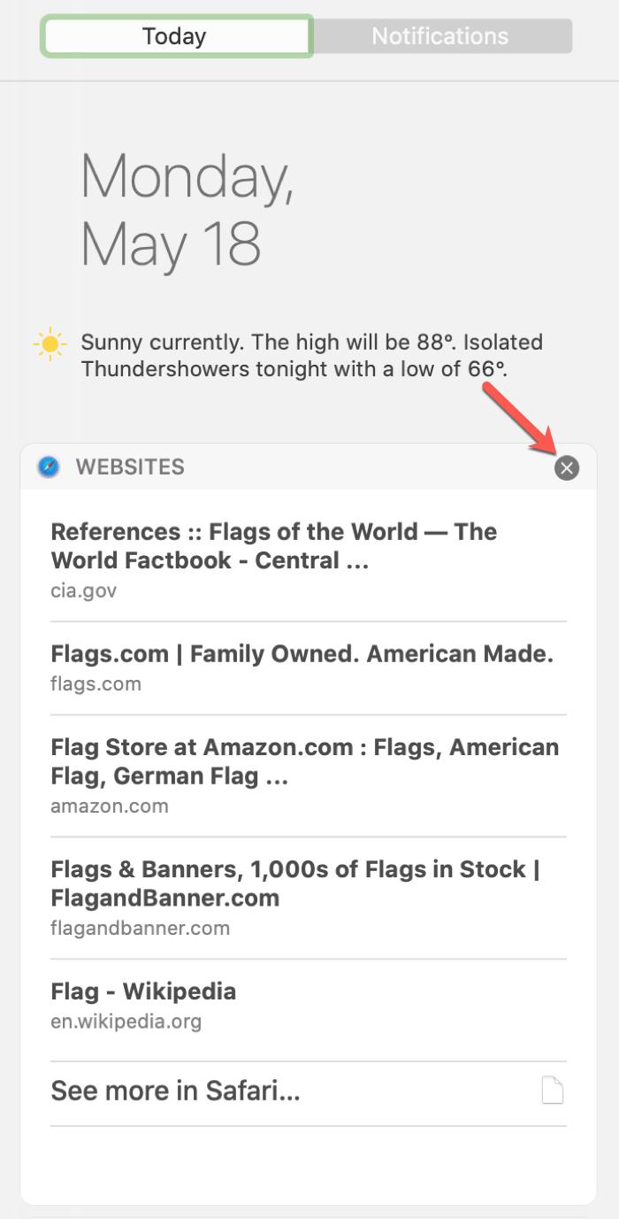 Saved Siri Search Results on Mac
