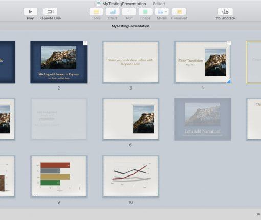 Skip Slides in Keynote Presentation