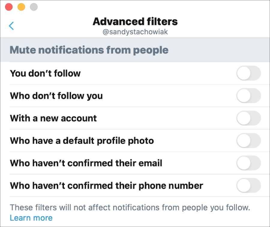 Twitter Advanced Filters Mac