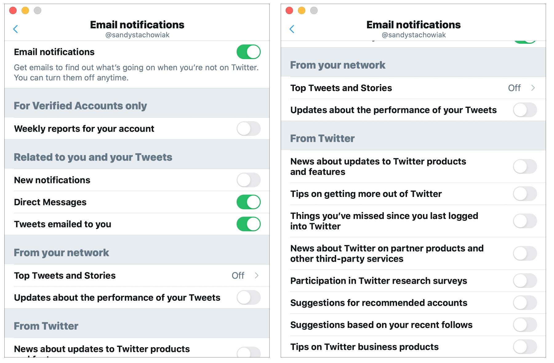 Twitter Email Notifications Mac
