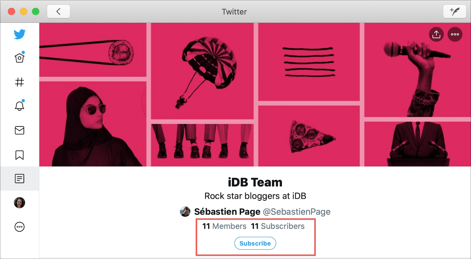 Twitter List Member Mac