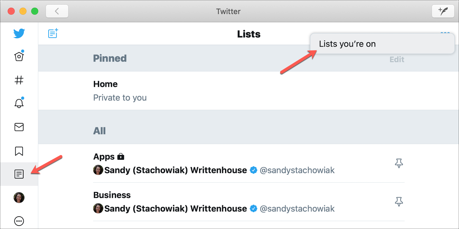 Twitter Lists Youre On Mac
