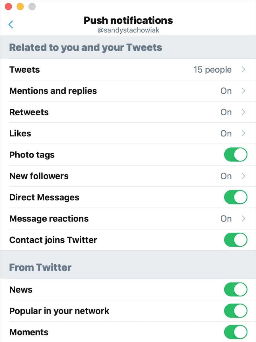 Twitter Push Notifications Mac