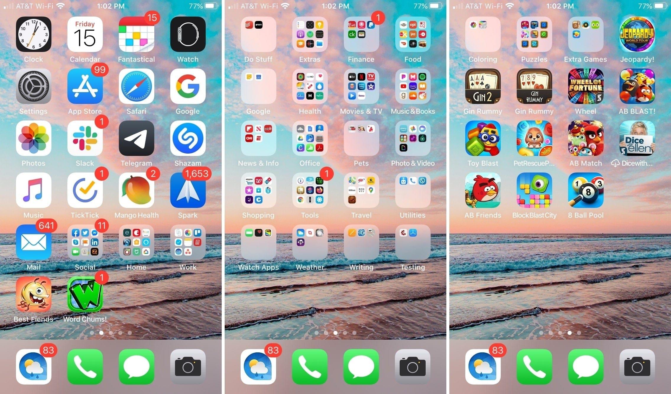 iPhone Home Screen Mixture of Methods