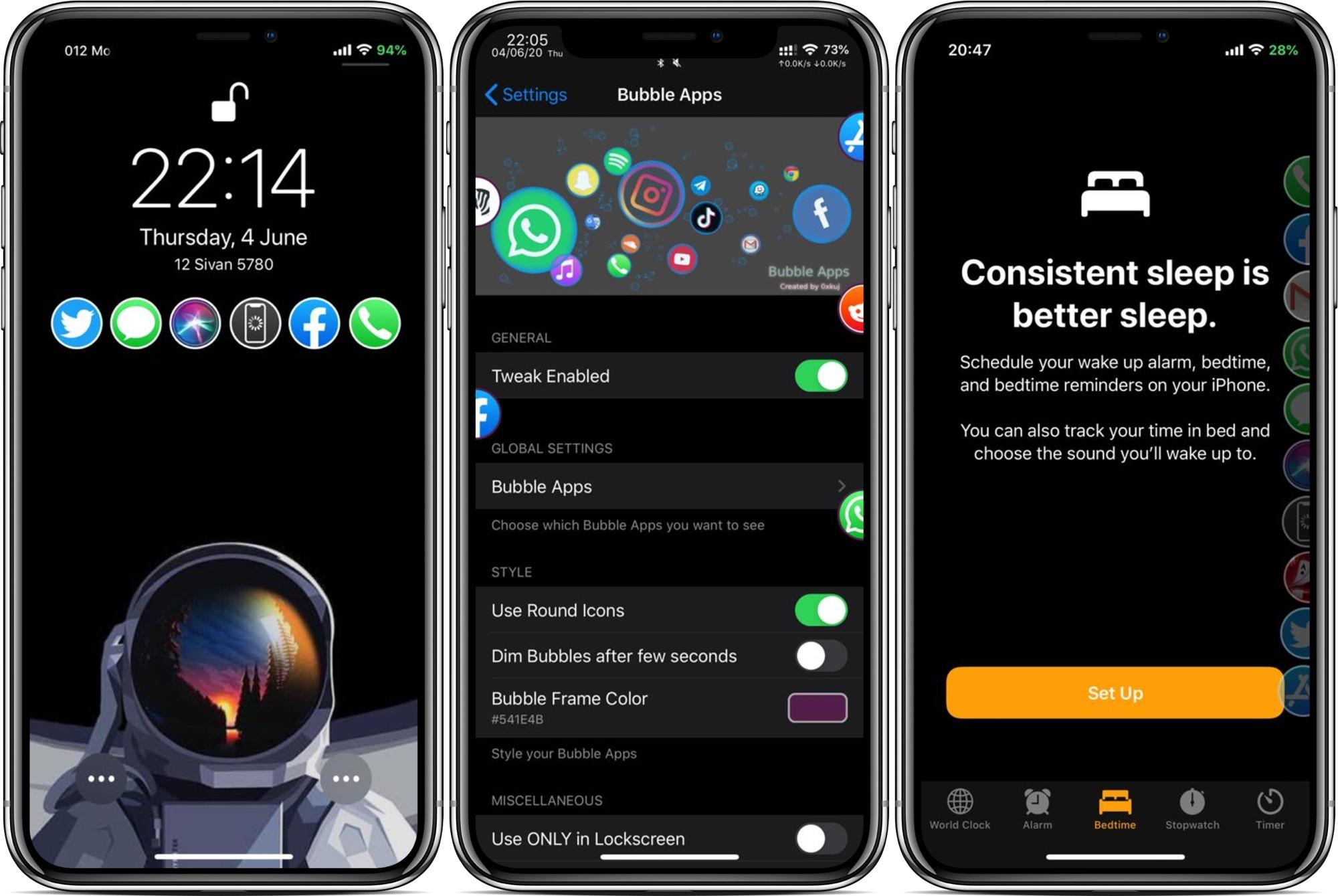 Ứng dụng bong bóng là một trình khởi chạy ứng dụng có cấu hình cao dành cho iPhone đã jailbreak 7