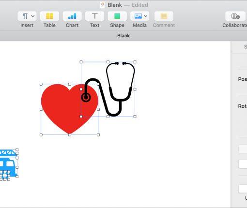 Combine Break Apart Shapes Pages Mac