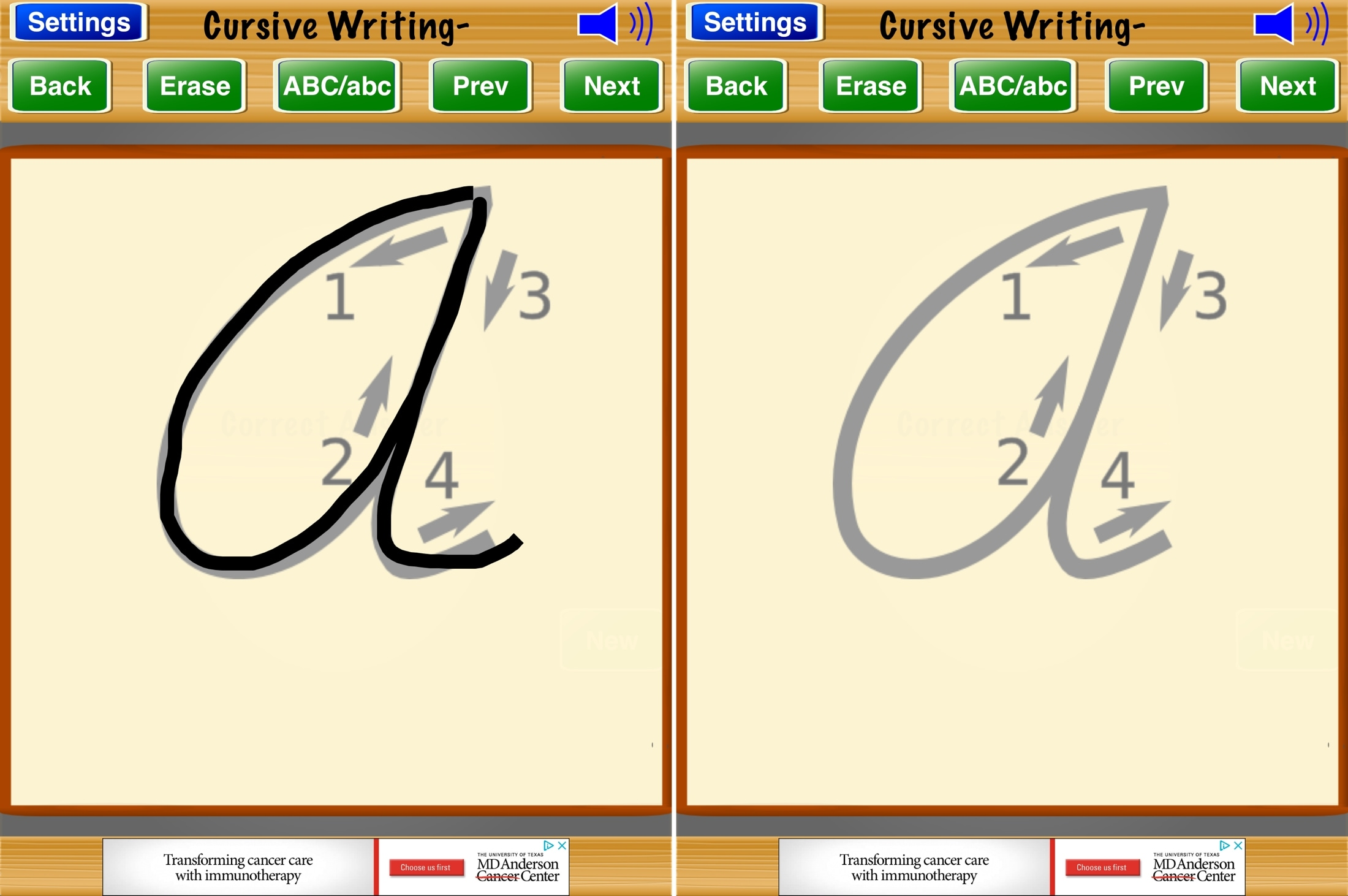 Cursive Writing- iPad