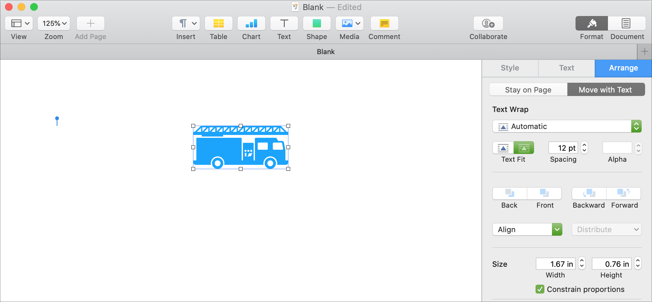 Format Break Apart Shapes Pages Mac