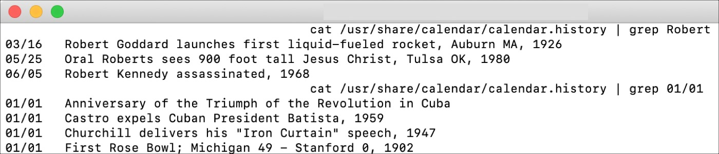 Fun Terminal Commands History
