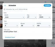 How to schedule a tweet on Twitter - web