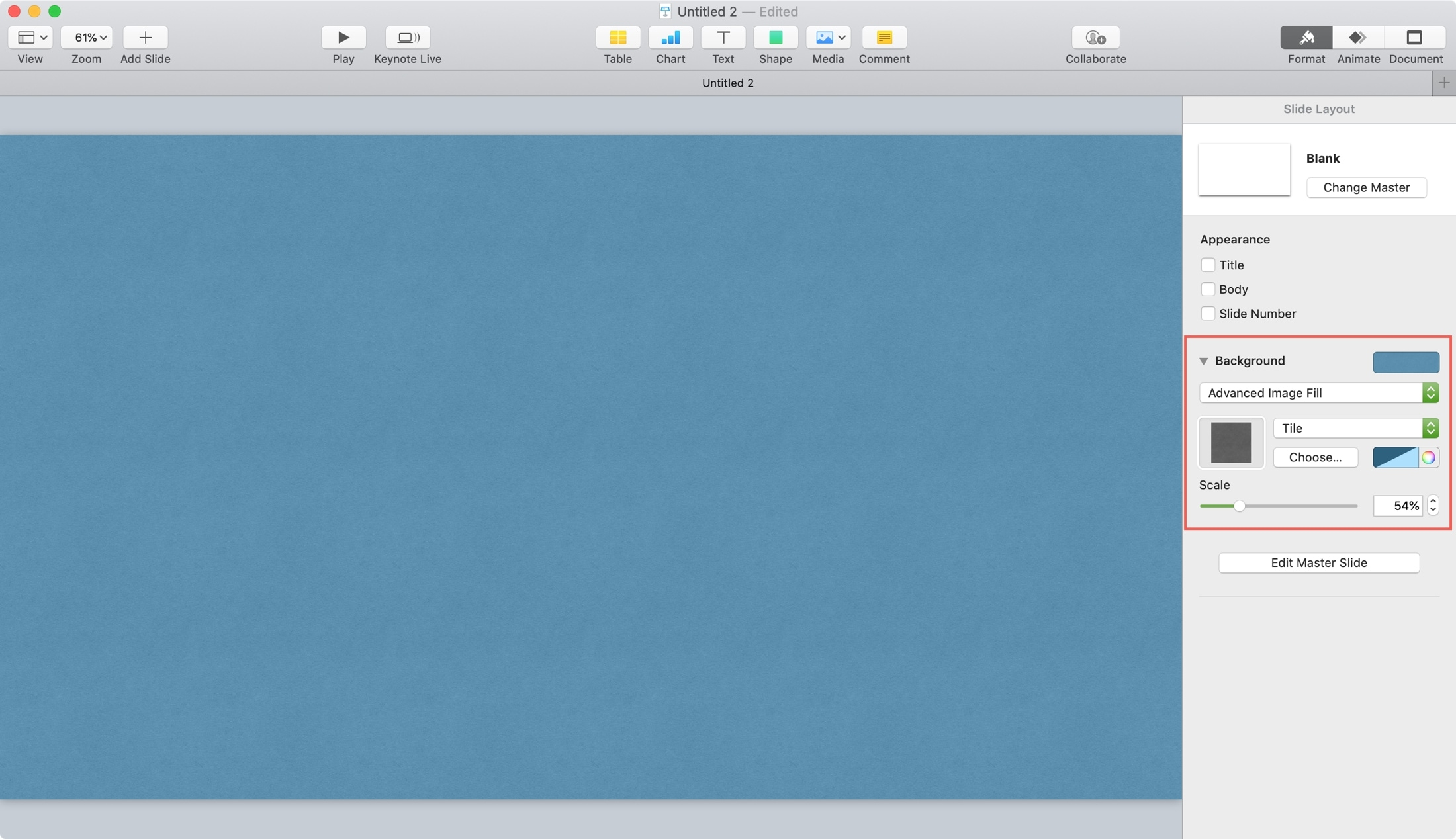 Keynote Advanced Image Background Mac