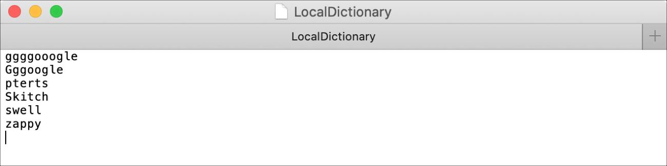 LocalDictionary File Mac