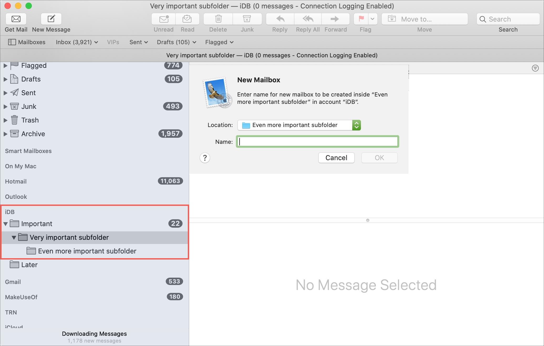 Mailbox Subfolders Mac Mail
