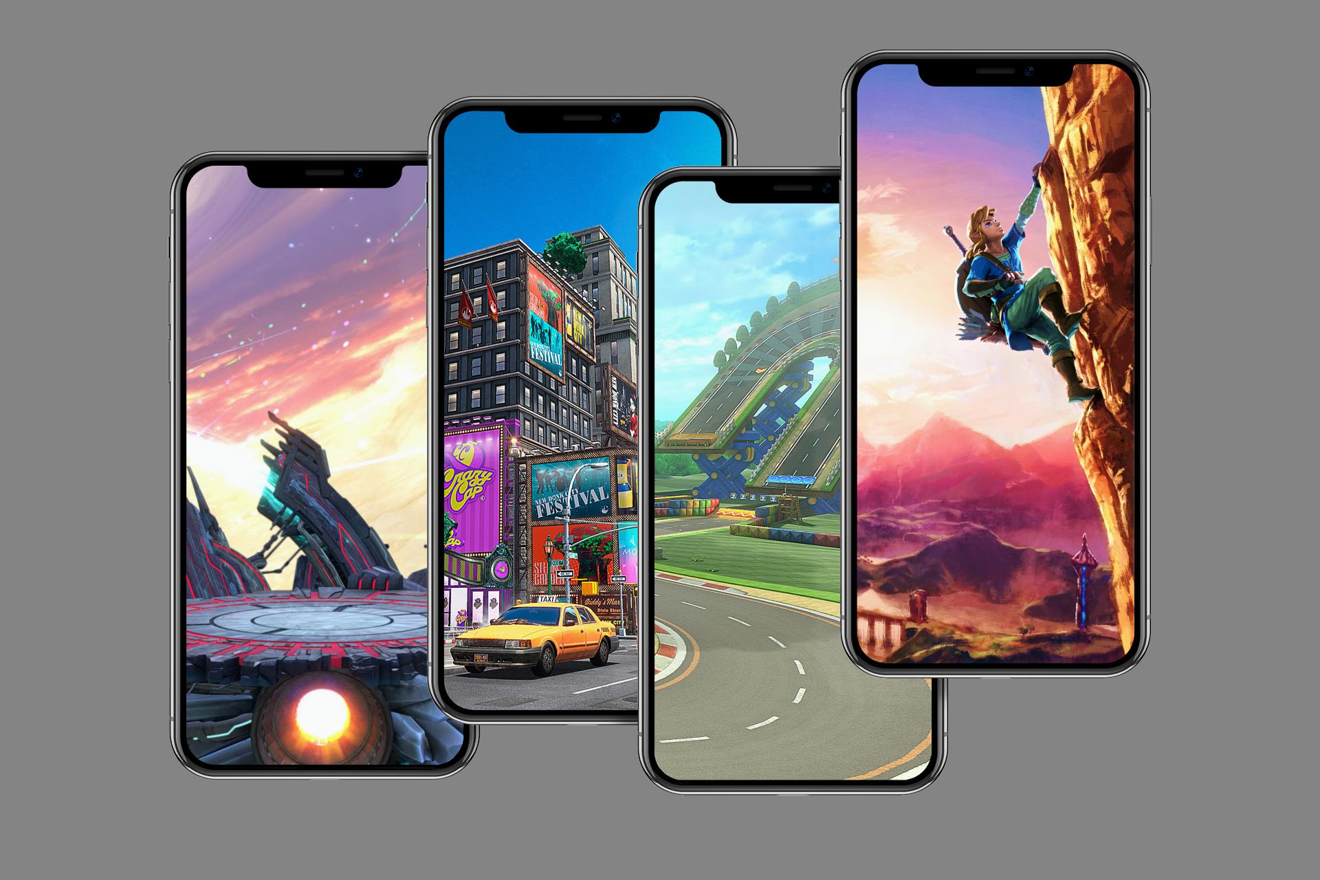 Nintendo iPhone wallpaper mockup