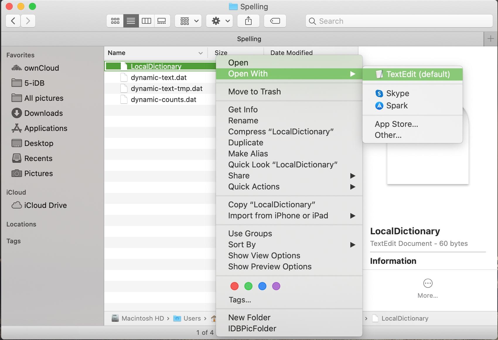Open LocalDictionary Mac