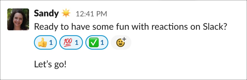 Slack Multiple Reactions