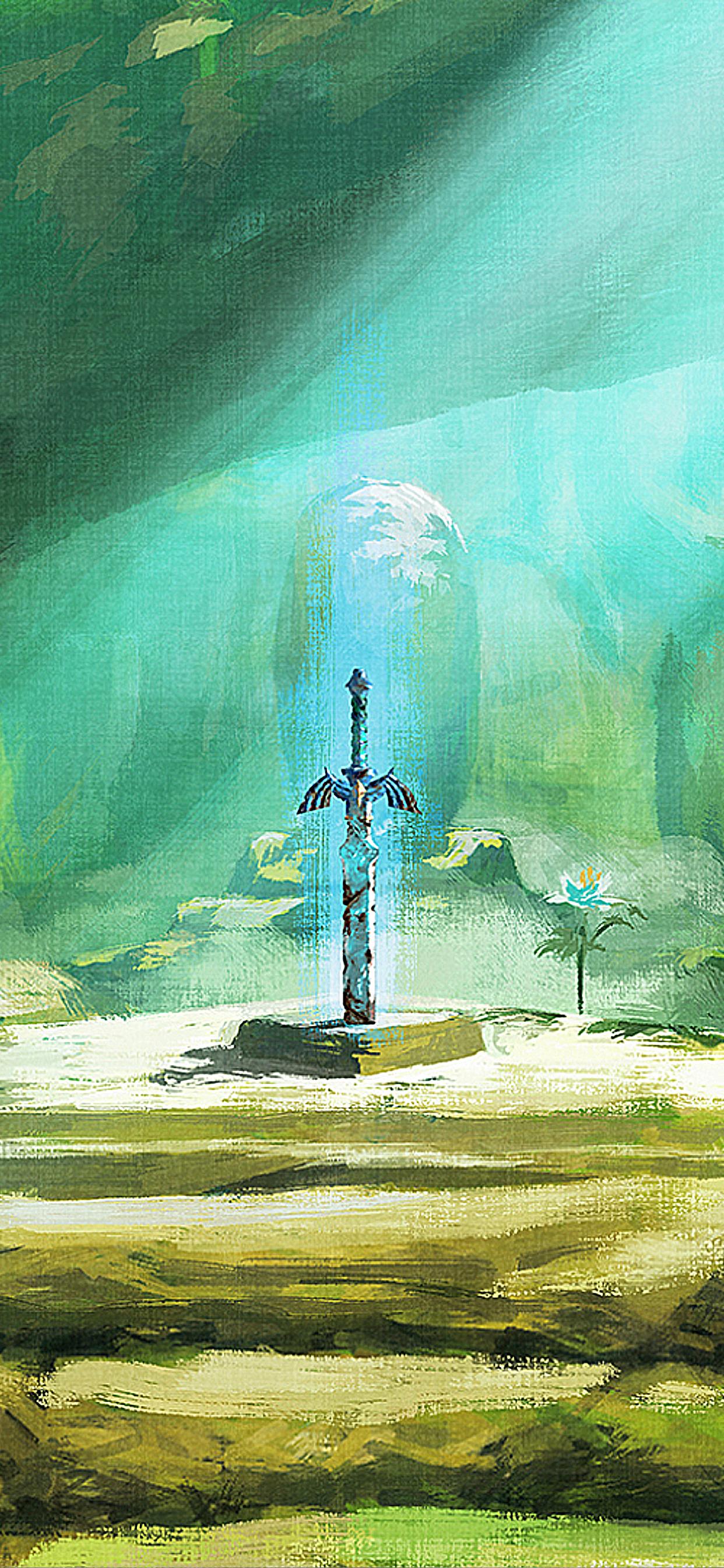 The Legend of Zelda Breath of the Wild Nintendo iPhone wallpaper