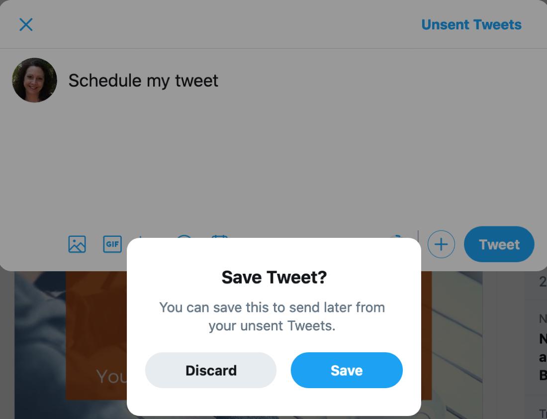 Twitter Discard Tweet