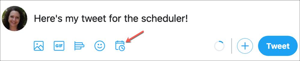Twitter Schedule Button