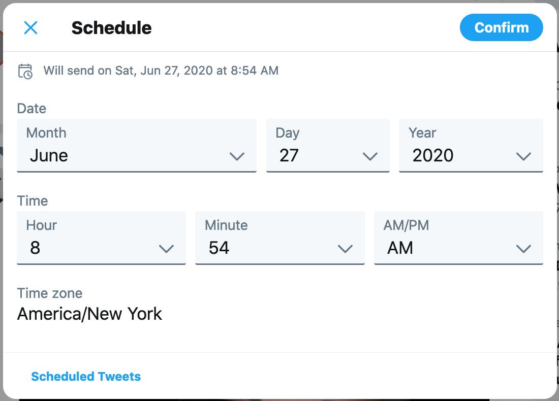 Twitter Schedule Tweet