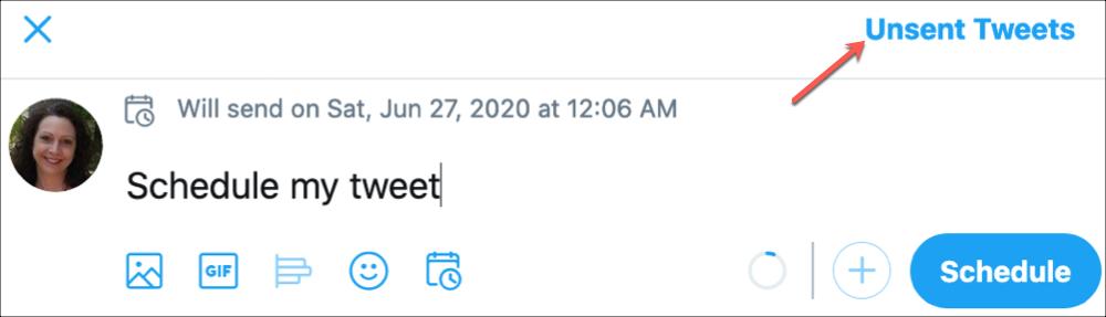 Twitter Unsent Tweets