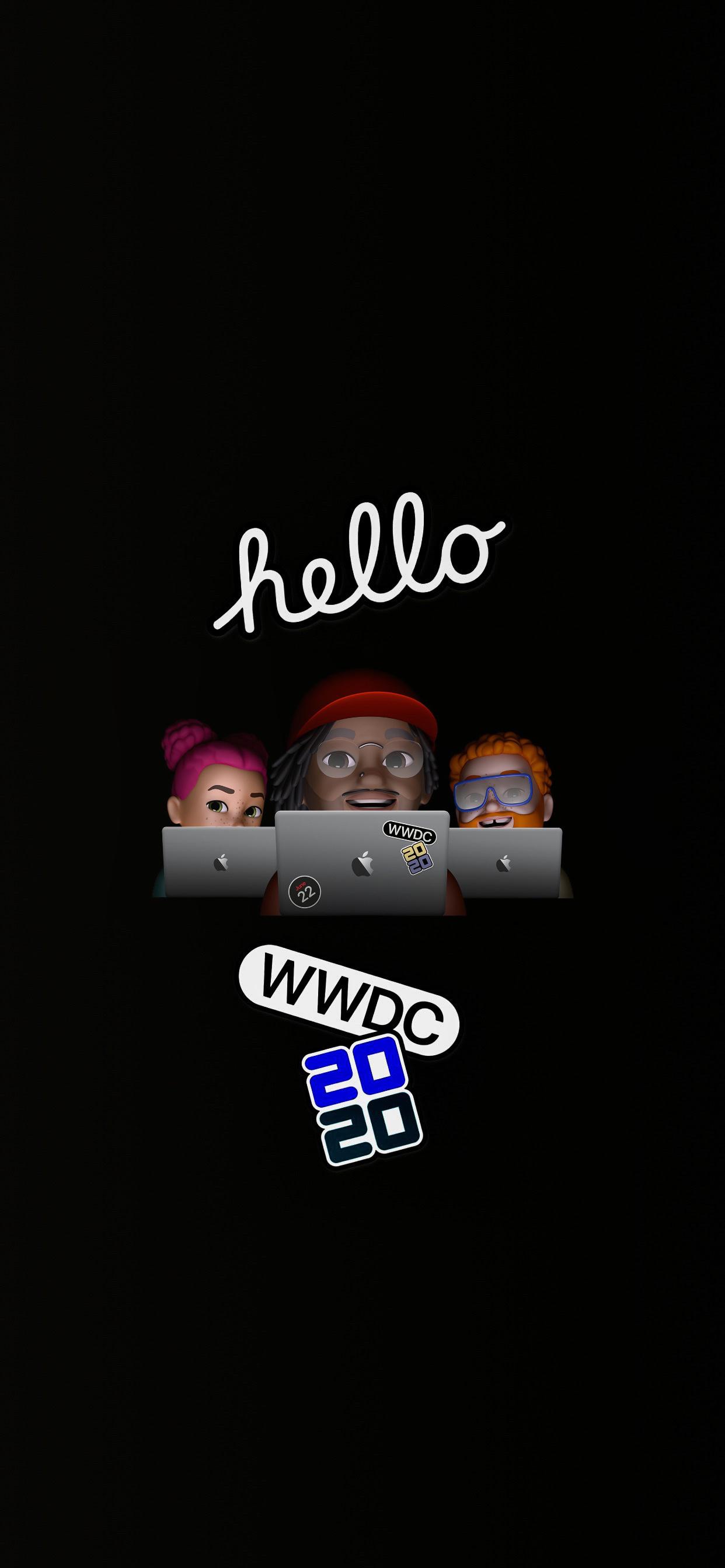 WWDC 2020 iPhone wallpaper AR72014 iDownloadBlog memoji
