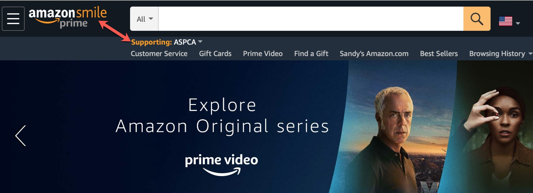 Amazon Smile Supported Charity
