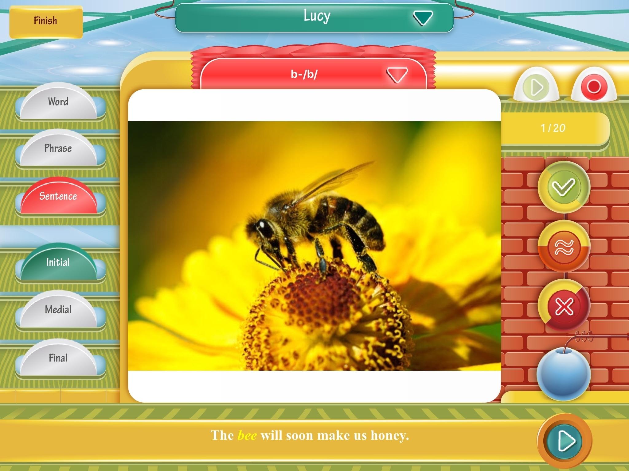 Articulation Games Lite iPad Flashcard