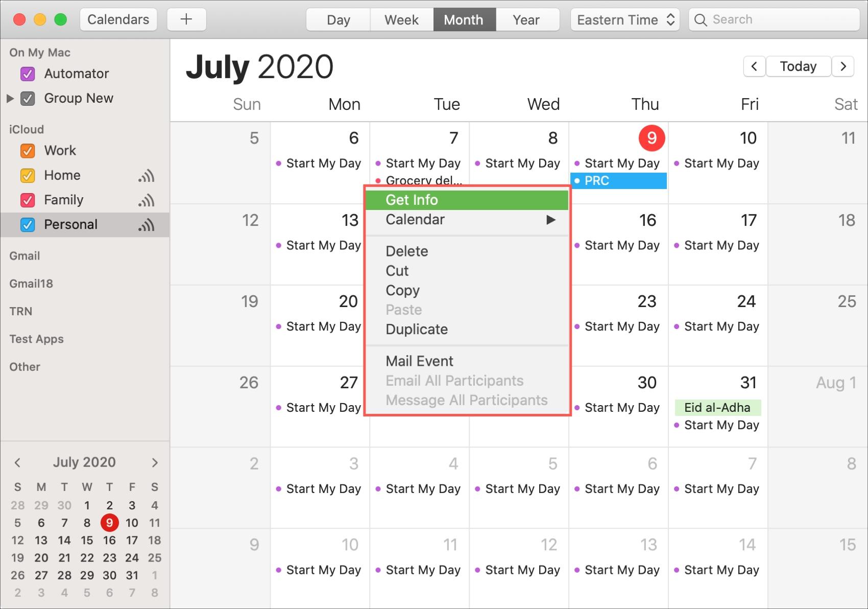 Calendar Event Get Info Mac