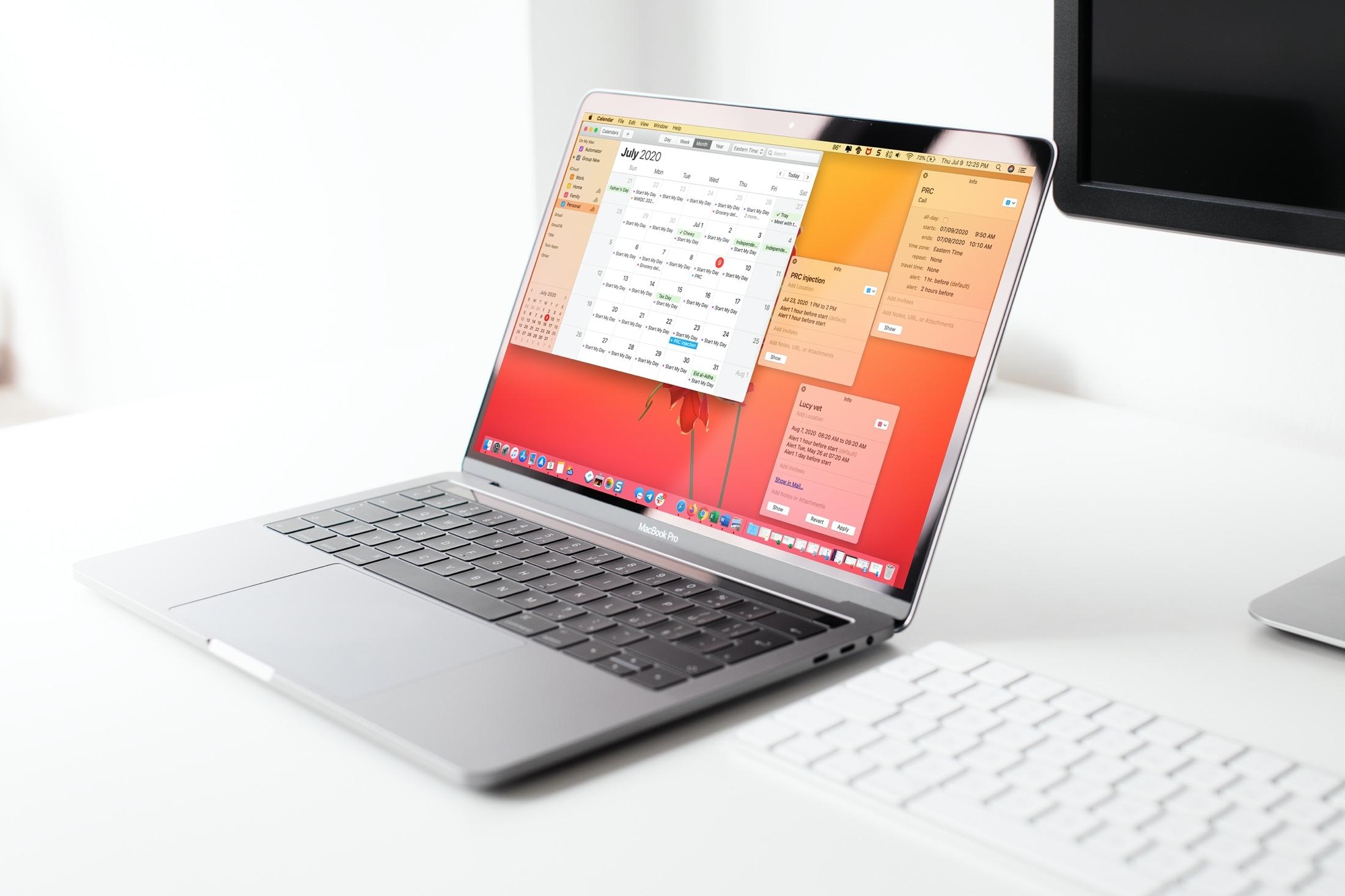 Calendar Event Windows on Mac