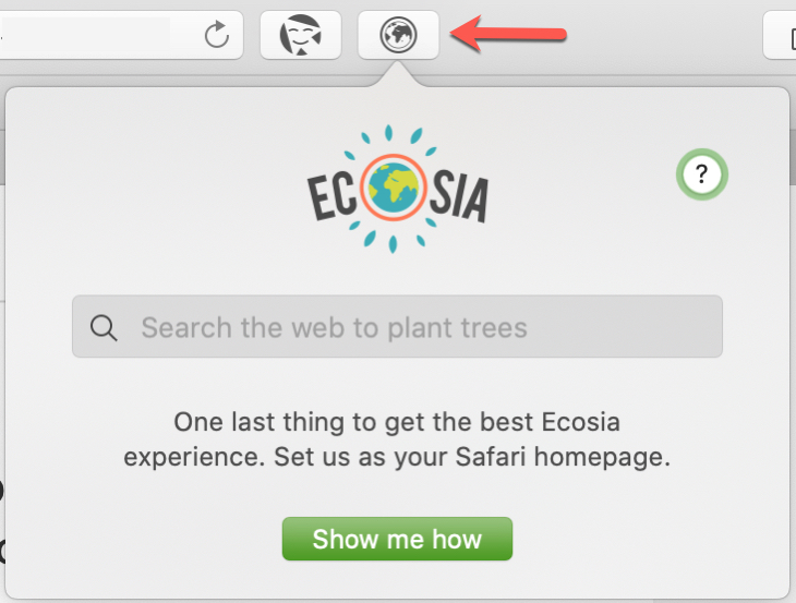 Ecosia Safari Extension