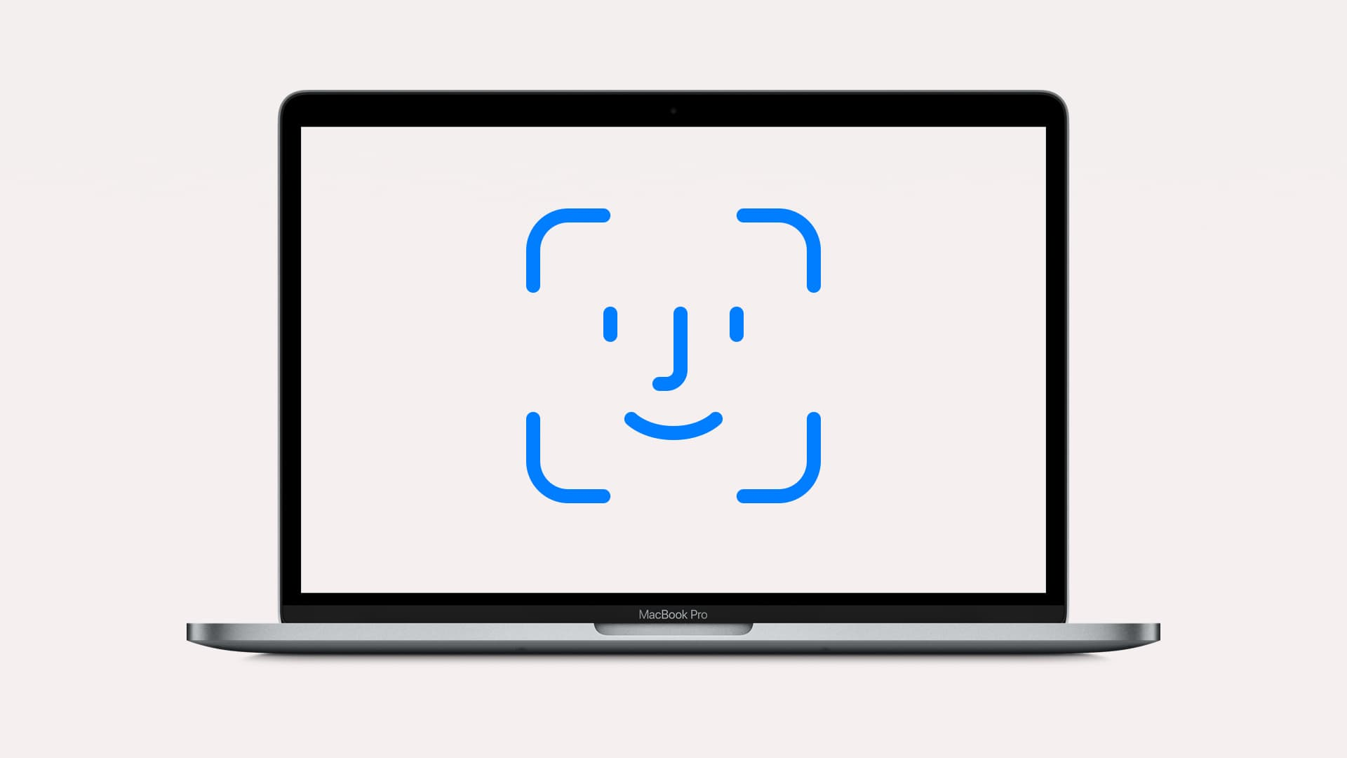 An illustration of Face ID Mac