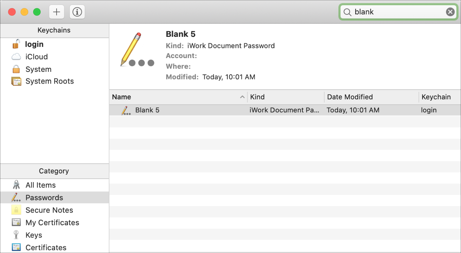 Find Document Keychain Access Mac