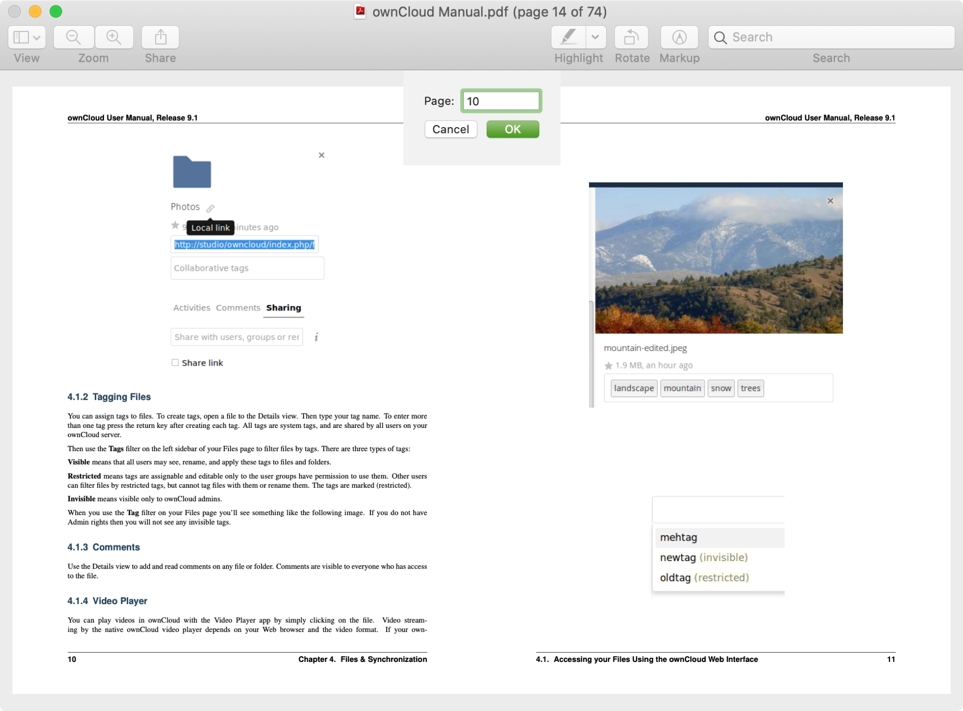 Go To Page in Preview PDF