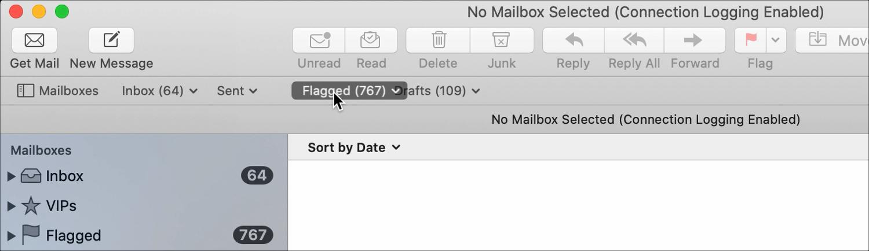 Mail Rearrange Favorites Bar on Mac