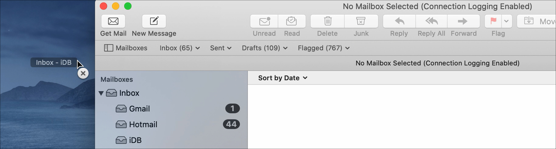 Mail Remove Mailbox from Favorites Bar on Mac