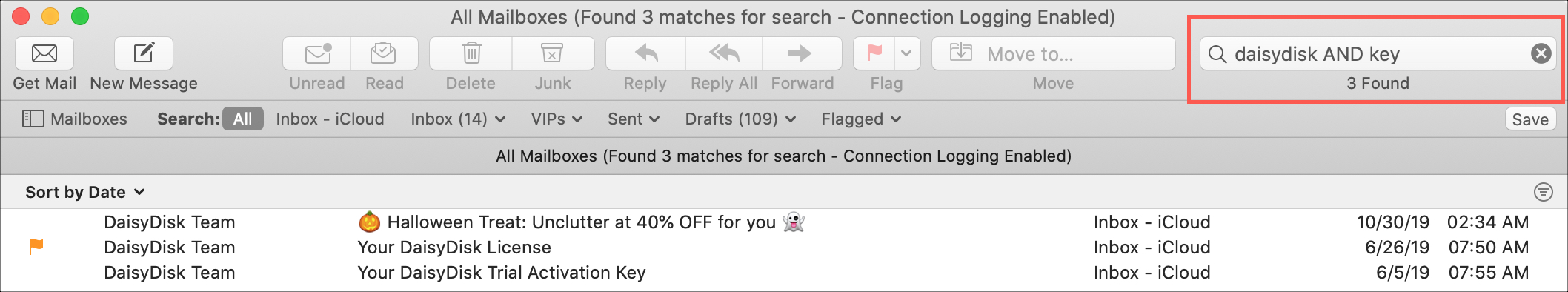 Mail Search Filters Boolean