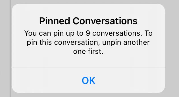 Messages Limit message