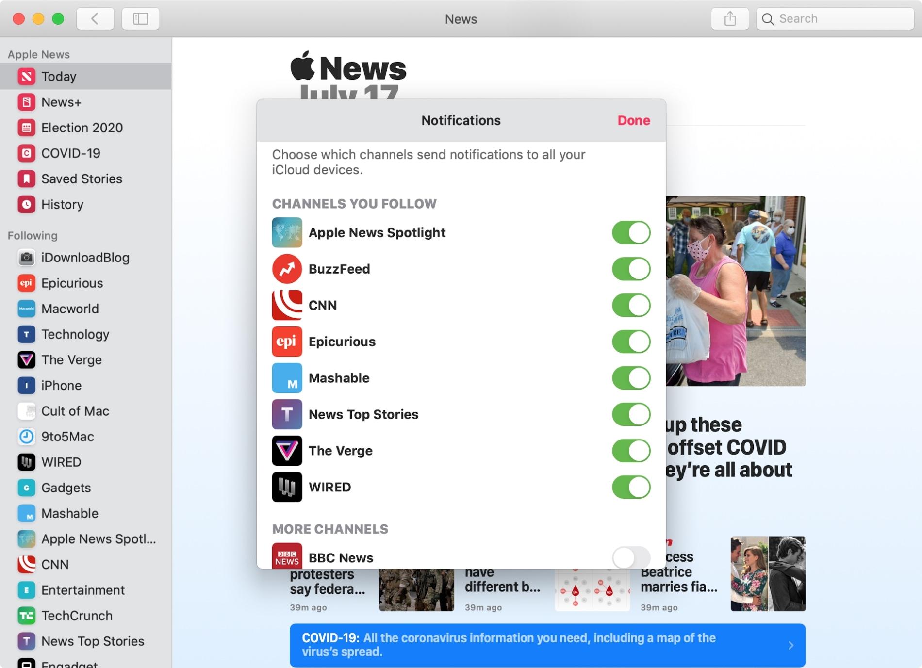 News App Mac Notifications