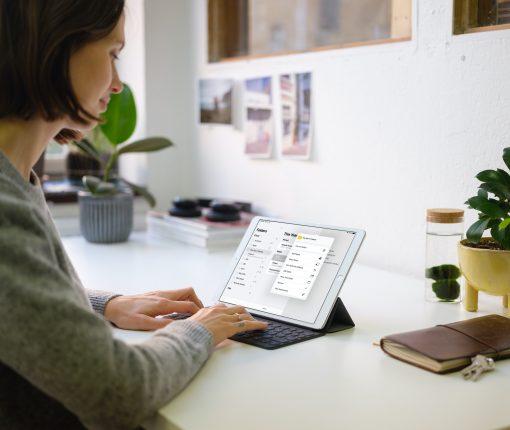 Note Folder actions menu on iPad