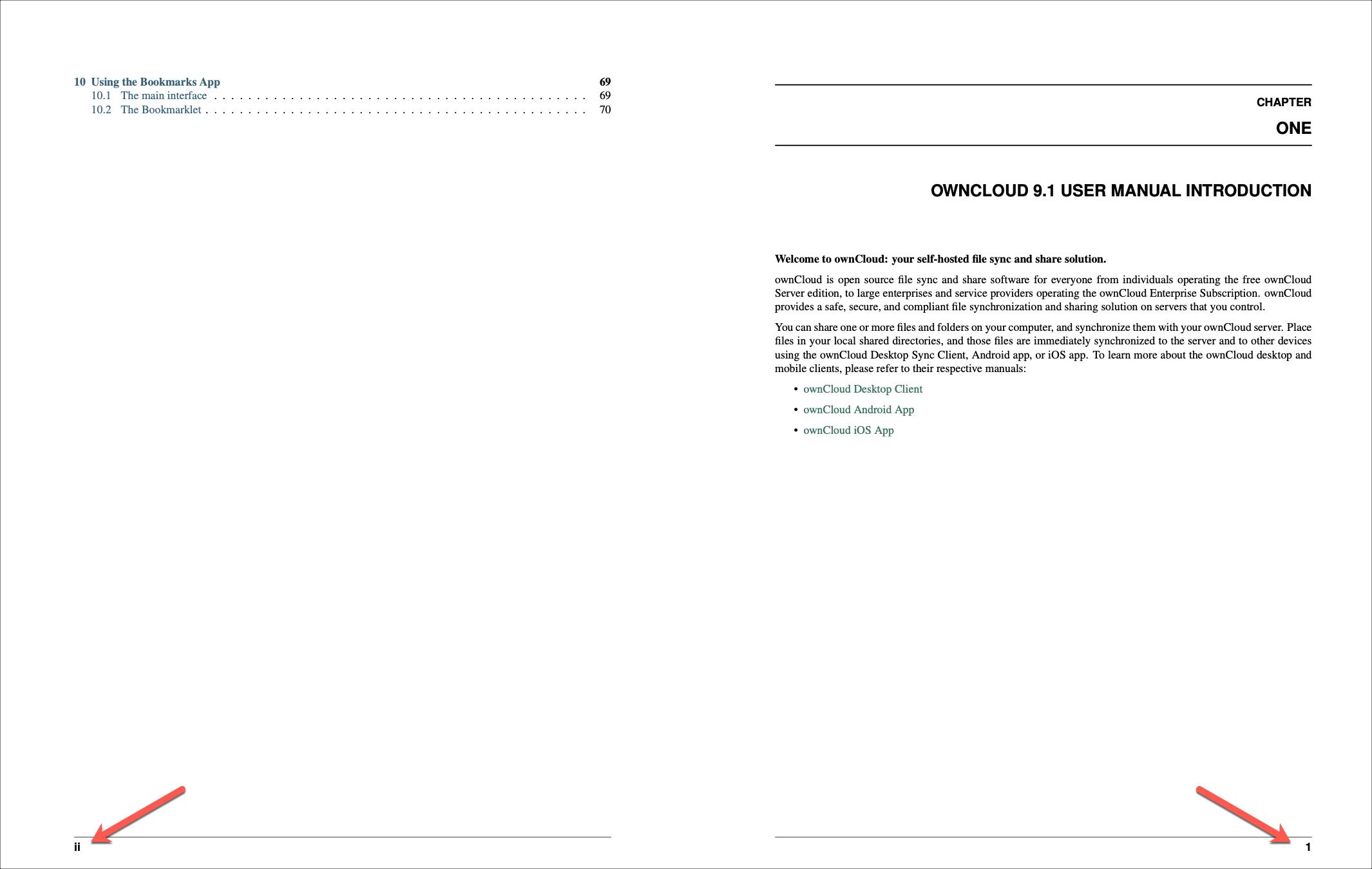 PDF Numbering Roman to Regular