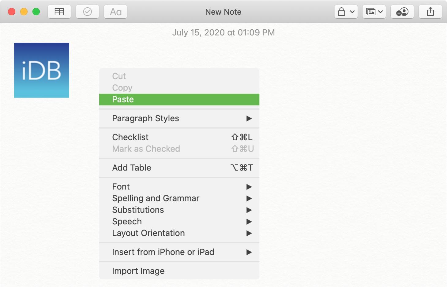 Safari Copy Image to NotesMac