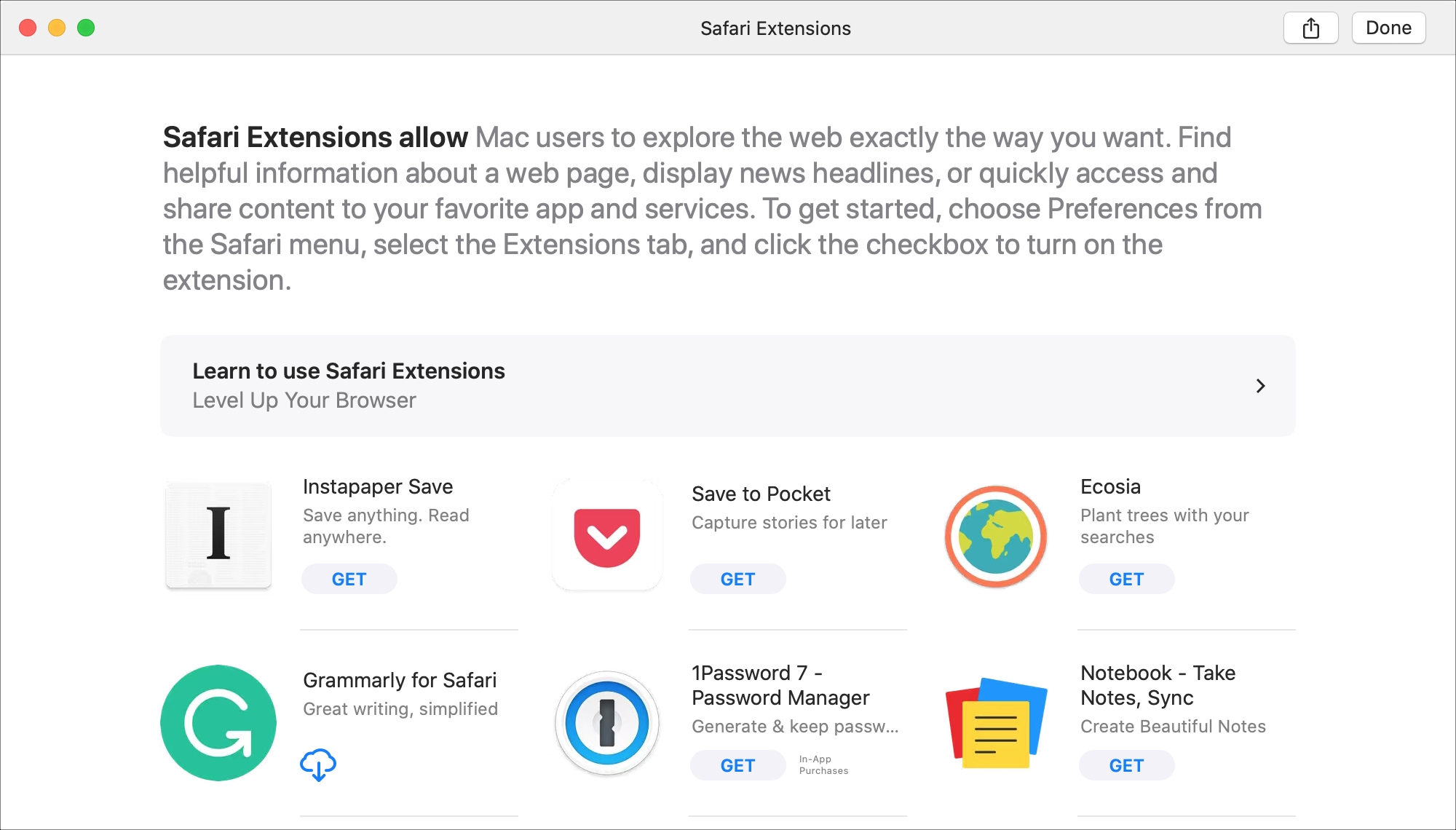 Safari Extensions Mac App Store