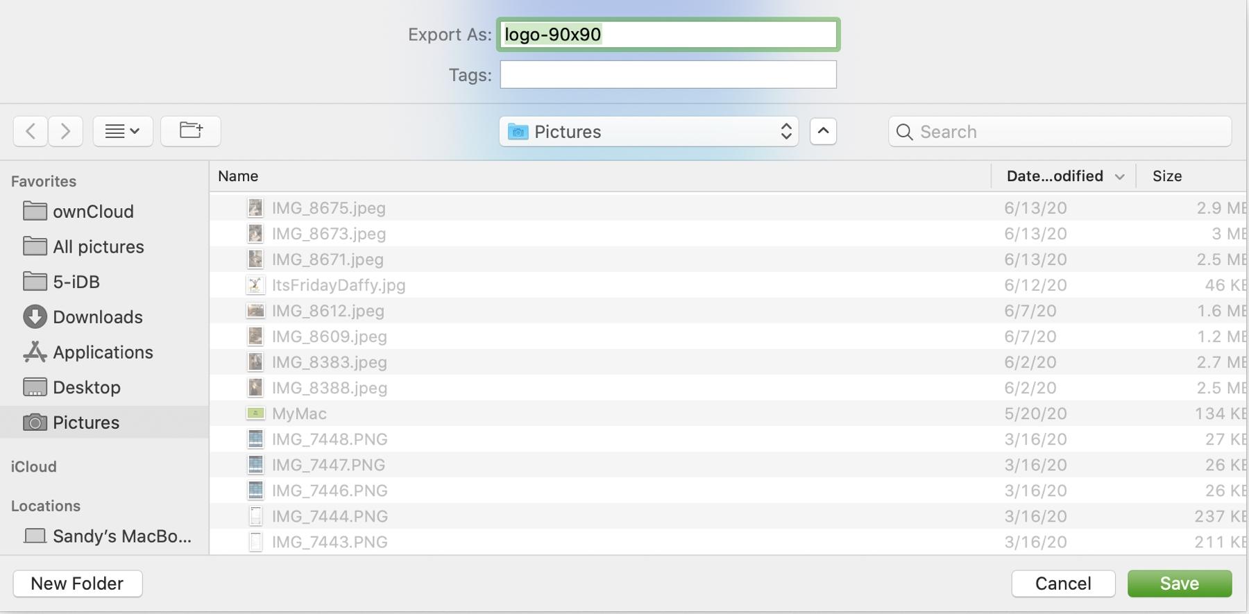 Safari Save As Image to Folder Mac