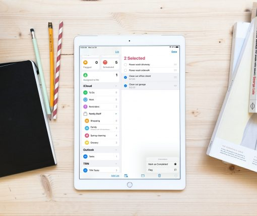 Selected Reminders Complete or Flag iPad