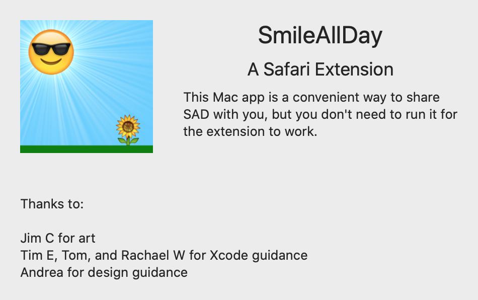 SmileAllDay Safari Extension